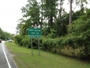 north carolina state line
