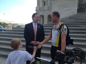 Meeting Congressman Flores at the steps of the capitol.